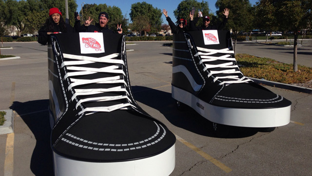 Giant shoes for Mall promotion