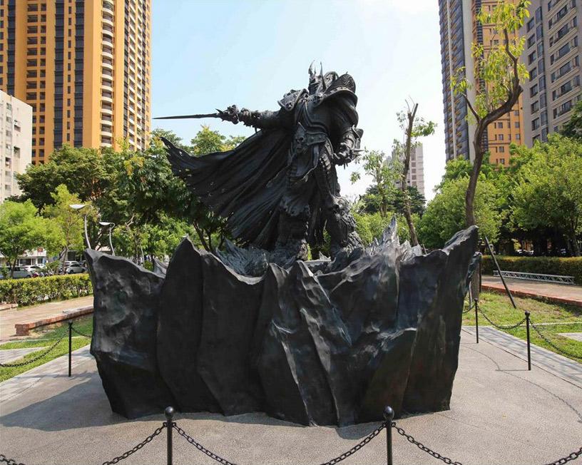 Blizzard Games Statue